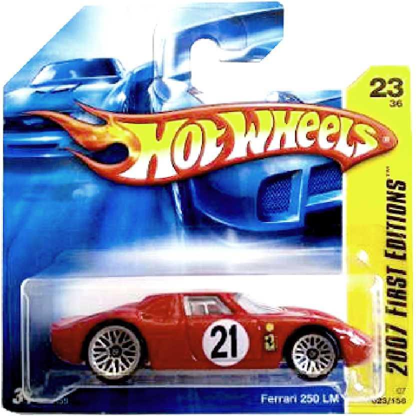Coleção 2007 Hot Wheels Ferrari 250 LM vermelha series 23/36 023/156 K6155 escala 1/64
