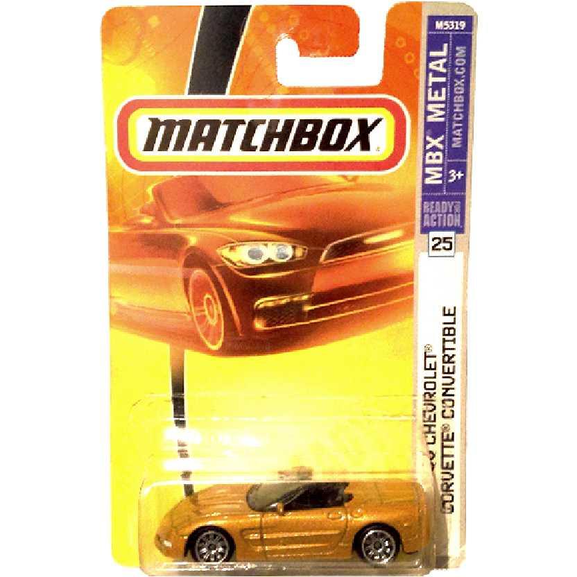 Coleção 2007 Matchbox 00 Chevrolet Corvette C5 Convertible #25 M5319 escala 1/64