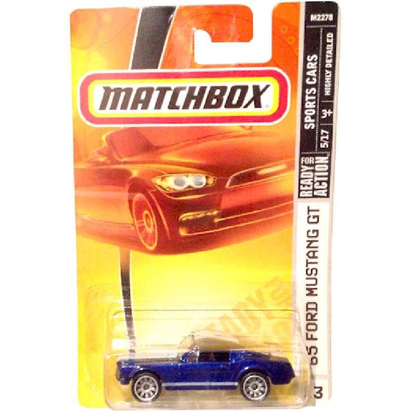 Coleção 2007 Matchbox 65 Ford Mustang GT #13 5/17 M2278 escala 1/64