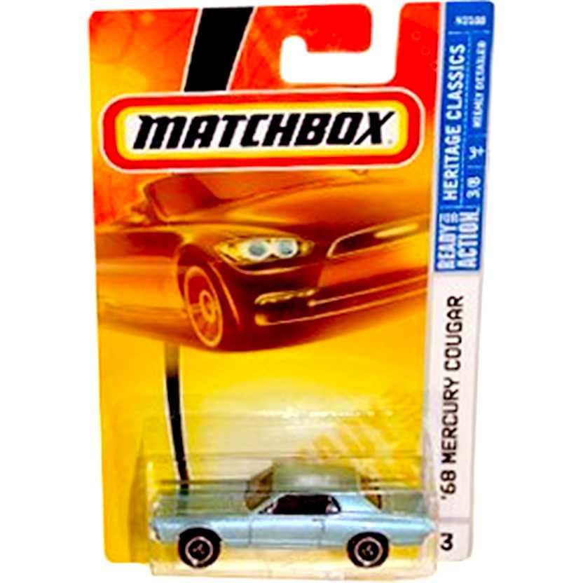 Coleção 2007 Matchbox 68 Mercury Cougar azul N2188 series 3 escala 1/64