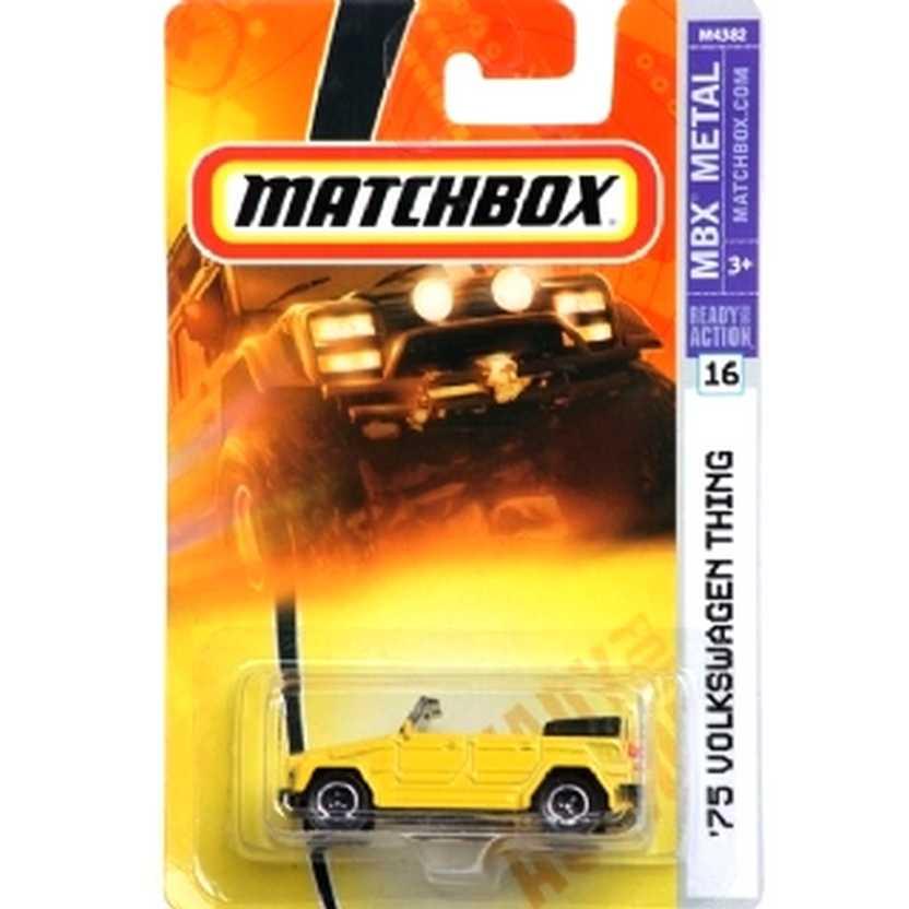 Coleção 2007 Matchbox 75 Volkswagen Thing amarelo M4382 series 16 escala 1/64