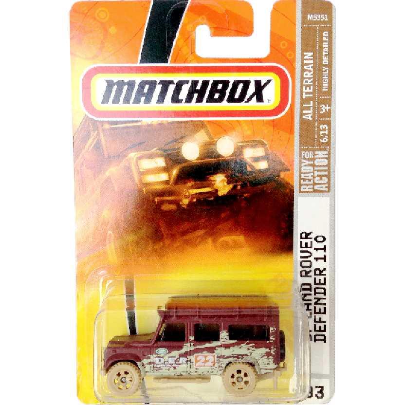 Coleção 2007 Matchbox 97 Land Rover Defender 110 series 93 M5351 escala 1/64
