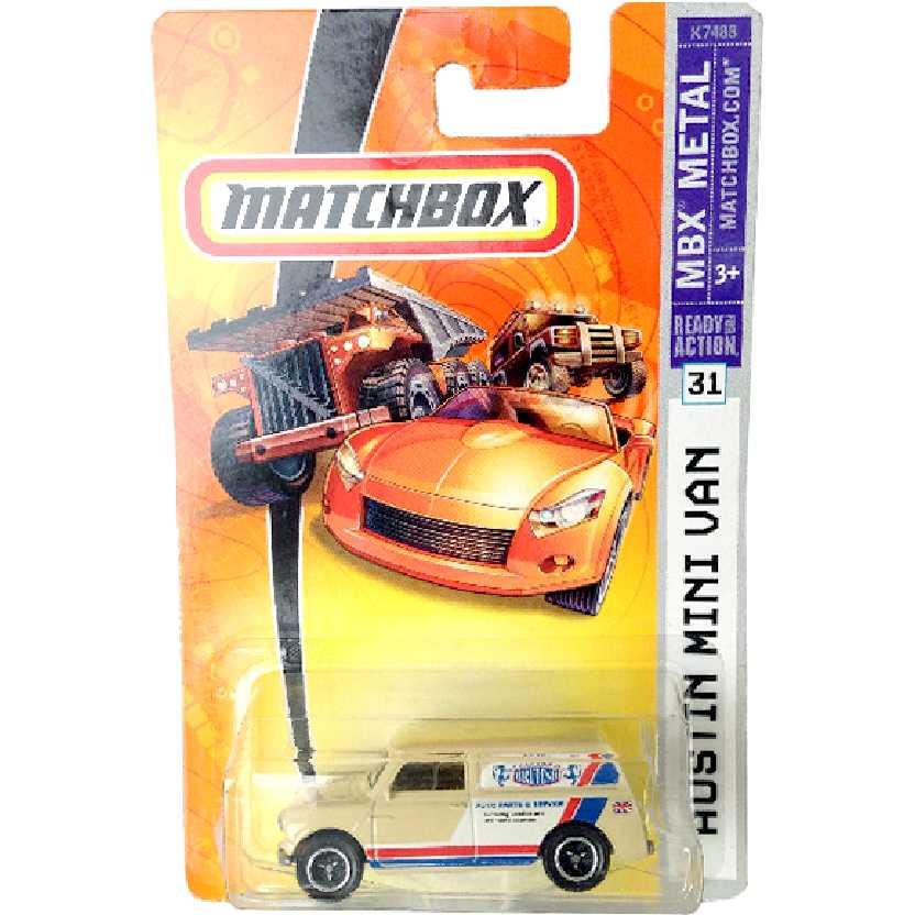 Coleção 2007 Matchbox Austin Mini Van 1965 K7488 #31 escala 1/64