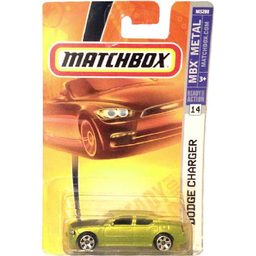 Coleção 2007 Matchbox Dodge Charger #14 M5288 escala 1/64