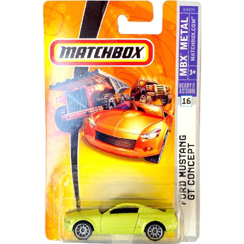 Coleção 2007 Matchbox Ford Mustang GT Concept #16 K9479 escala 1/64