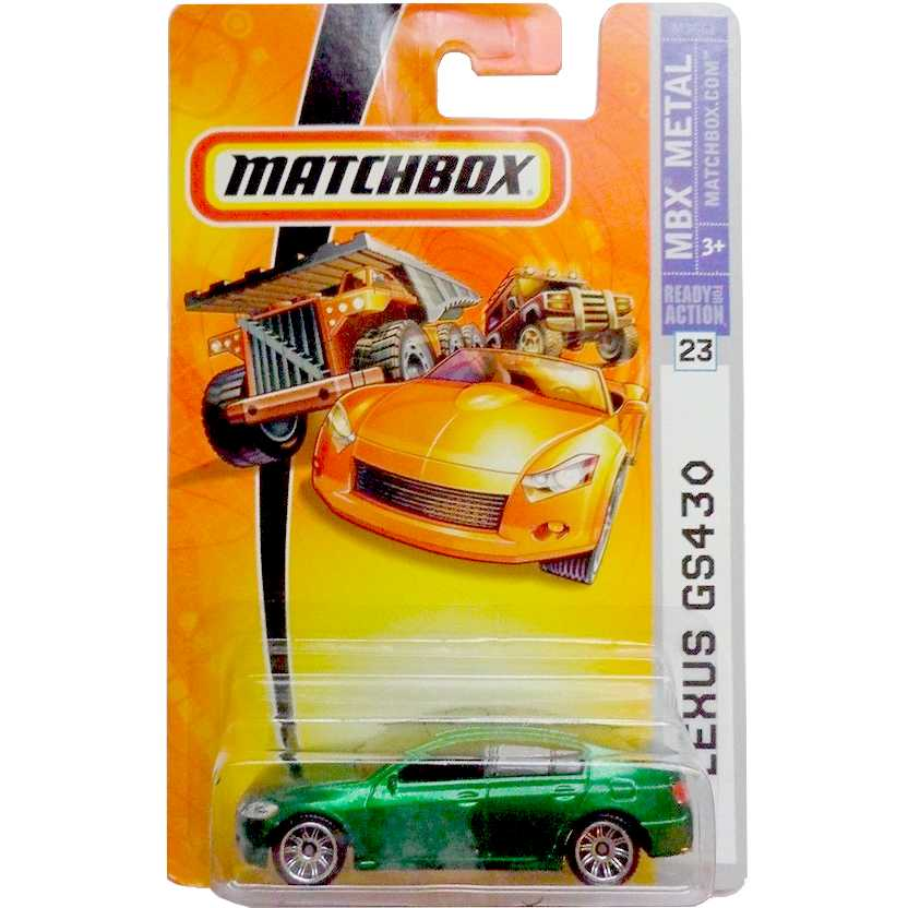 Coleção 2007 Matchbox Lexus GS430 verde número 23 M3861 escala 1/64