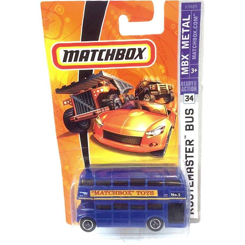 Coleção 2007 Matchbox Routemaster Bus azul #34 escala 1/64 M5338