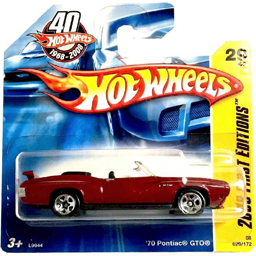 Coleção 2008 Hot Wheels 70 Pontiac GTO series 29/40 029/172 L9944 escala 1/64