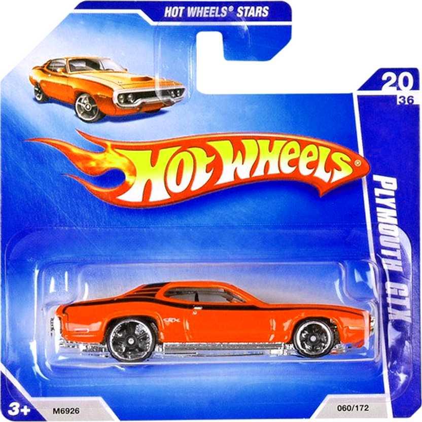 Coleção 2008 Hot Wheels 71 Plymouth GTX laranja series 20/36 060/172 M6926 escala 1/64