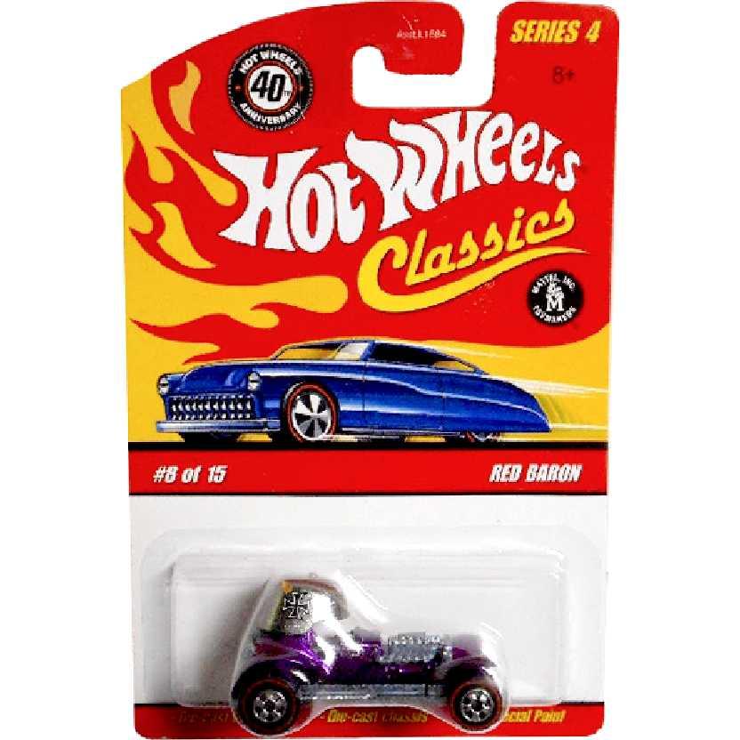 Coleção 2008 Hot Wheels Classics Red Baron (roxo) series 4 8/15 M1865 escala 1/64