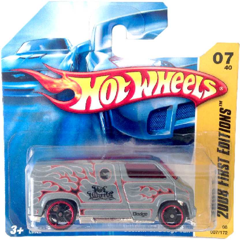 Coleção 2008 Hot Wheels Custom 77 Dodge Van series 07/40 007/172 L9922 escala 1/64