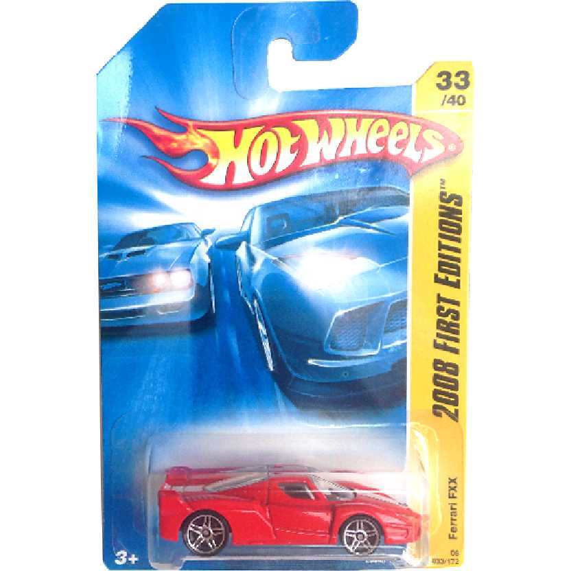 Coleção 2008 Hot Wheels First Editions Ferrari FXX series 33/40 033/172 L9948 escala 1/64
