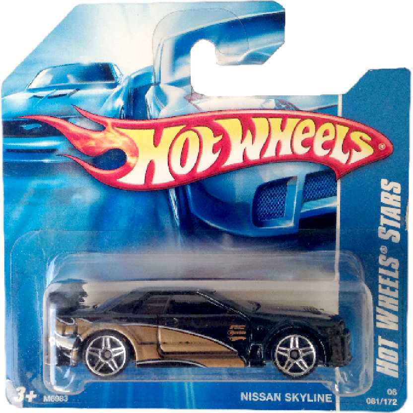 Coleção 2008 Hot Wheels Nissan Skyline series 081/172 M6983 escala 1/64