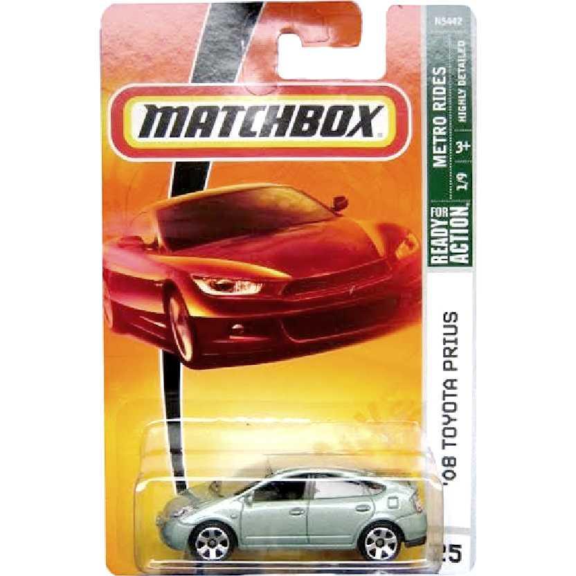 Coleção 2008 Matchbox 08 Toyota Prius 1/9 #25 N5442 escala 1/64