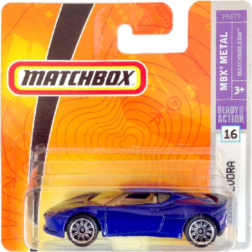 Coleção 2008 Matchbox Lotus Evora #16 P6379 escala 1/64