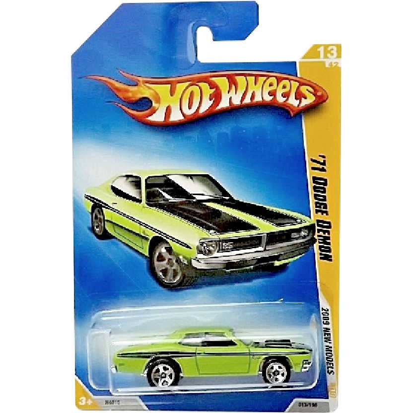 Coleção 2009 Hot Wheels 71 Dodge Demon series 13/42 013/190 N4016 escala 1/64