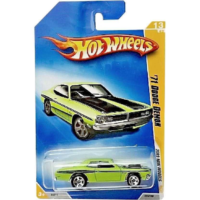 Coleção 2009 Hot Wheels 71 Dodge Demon series 13/42 013/190 N4016 escala 1/64
