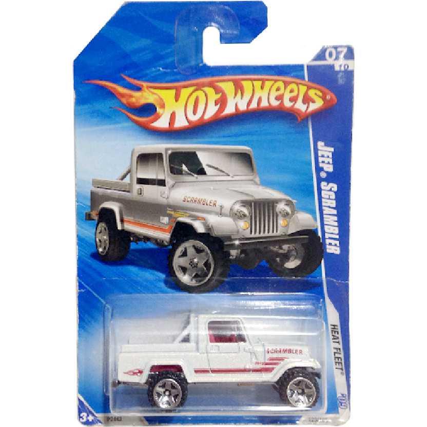 Coleção 2009 Hot Wheels Jeep Scrambler branco series 07/10 123/166 P2443 escala 1/64