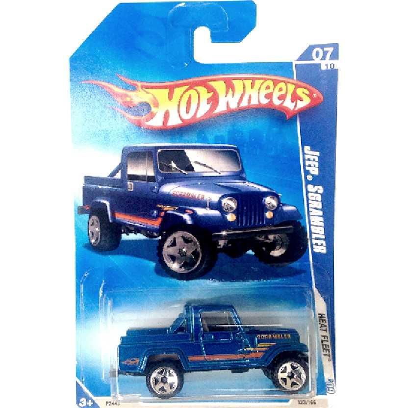 Coleção 2009 Hot Wheels Jeep Scrambler series 07/10 123/166 P2443 escala 1/64 azul Raro