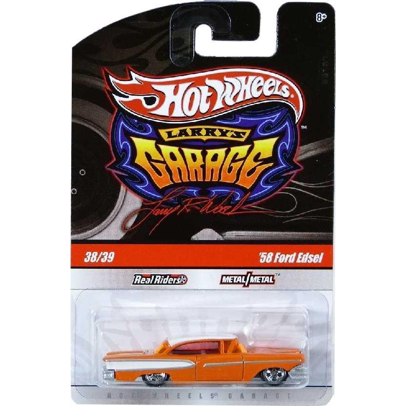 Coleção 2009 Hot Wheels Larrys Garage 58 Ford Edsel laranja series 38/39 T0411 escala 1/64