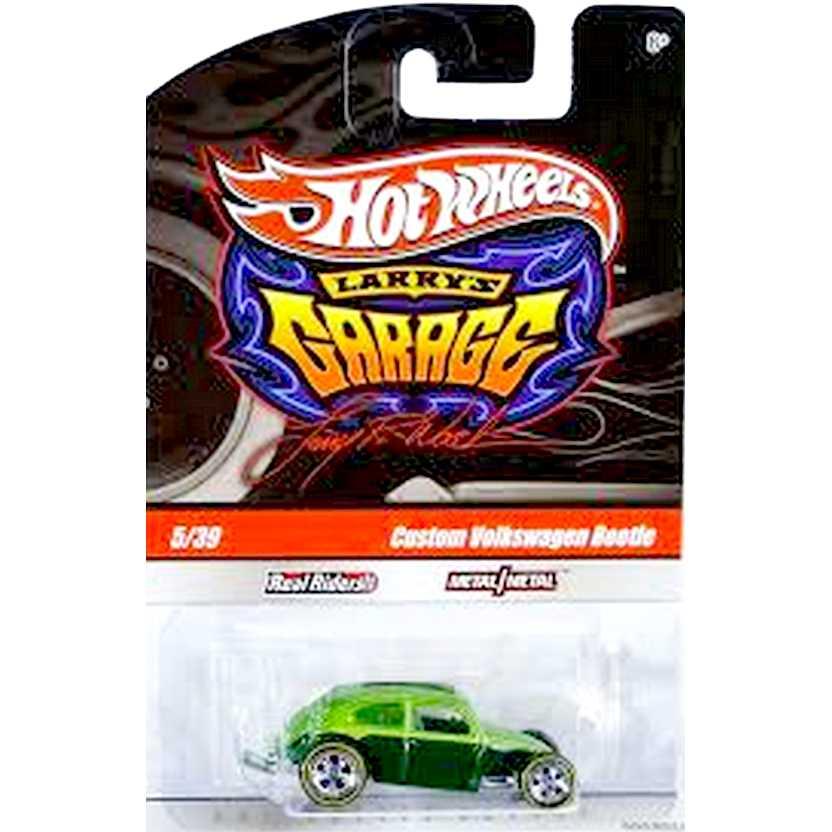 Coleção 2009 Hot Wheels Larrys Garage Custom Vw Beetle Fusca verde R3777 5/39 escala 1/64