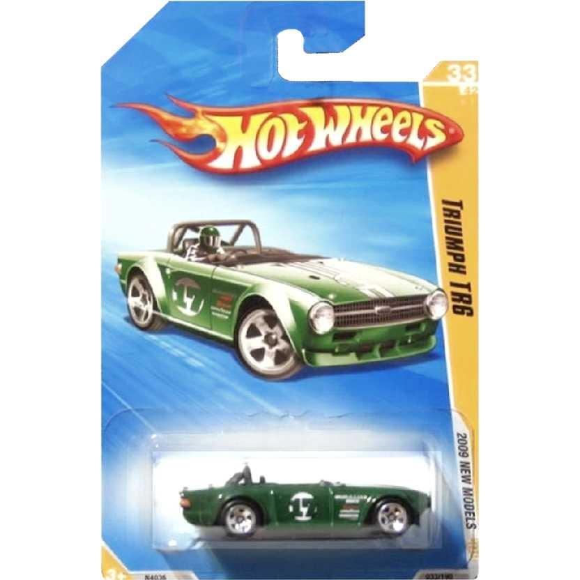 Coleção 2009 Hot Wheels Triumph TR6 verde series 33/42 033/190 N4036 escala 1/64