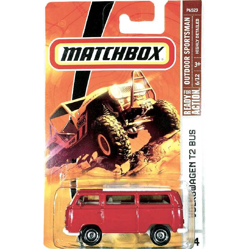 Coleção 2009 Matchbox VW Kombi Volkswagen T2 Bus #94 P6523 escala 1/64