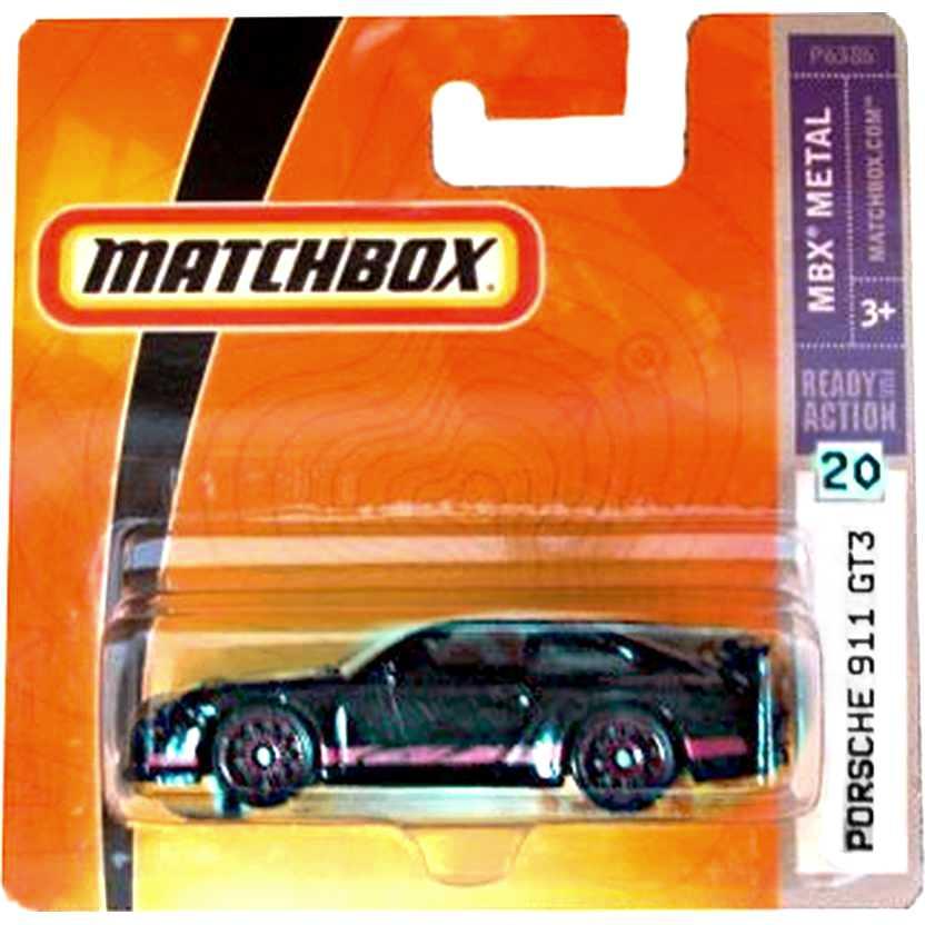 Coleção 2009 Porsche 911 GT3 preto #20 escala 1/64 P6386 raridade