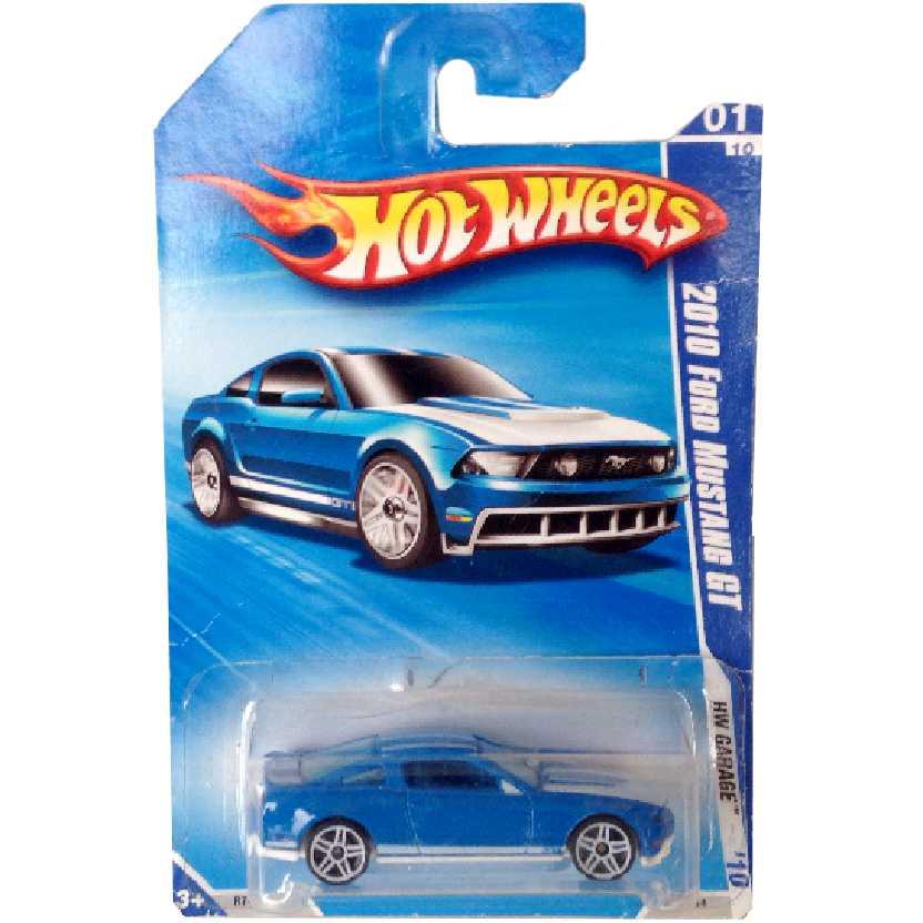 Coleção 2010 Hot Wheels 2010 Ford Mustang GT series 01/10 077/214 R7494 escala 1/64
