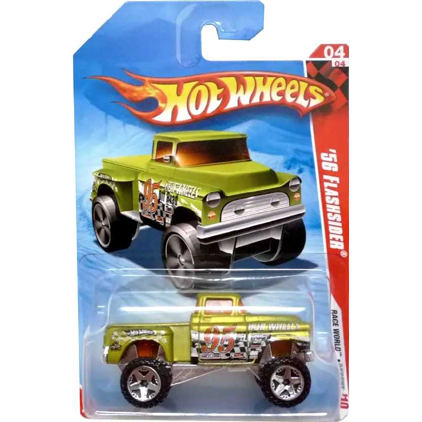 Coleção 2010 Hot Wheels 56 Flashsider series 04/04 190/214 R7621 escala 1/64