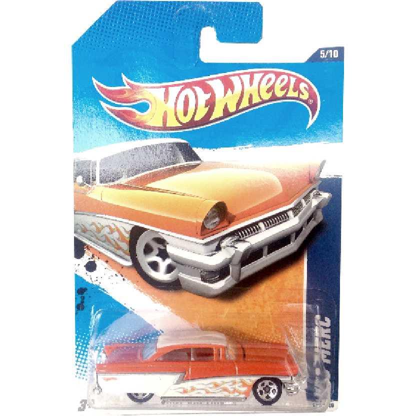 Coleção 2010 Hot Wheels 56 Merc series 5/10 163/240 R7588 escala 1/64 laranja raro