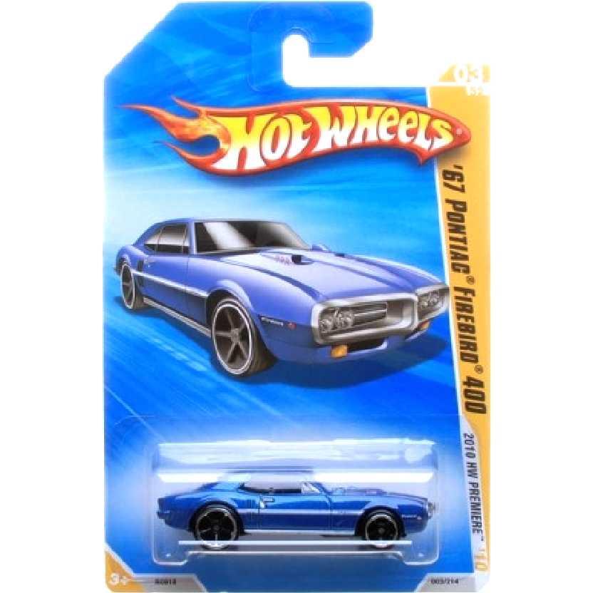 Coleção 2010 Hot Wheels 67 Pontiac Firebird 400 azul series 03/52 R0918 escala 1/64