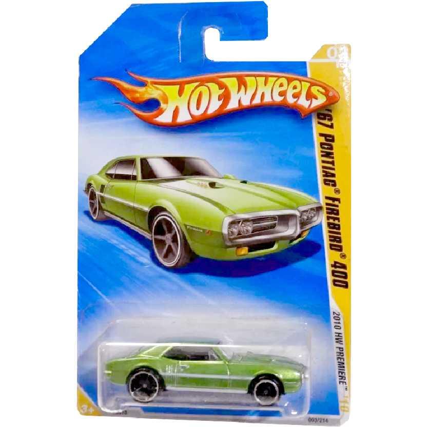 Coleção 2010 Hot Wheels 67 Pontiac Firebird 400 verde series 03/52 R0918 escala 1/64