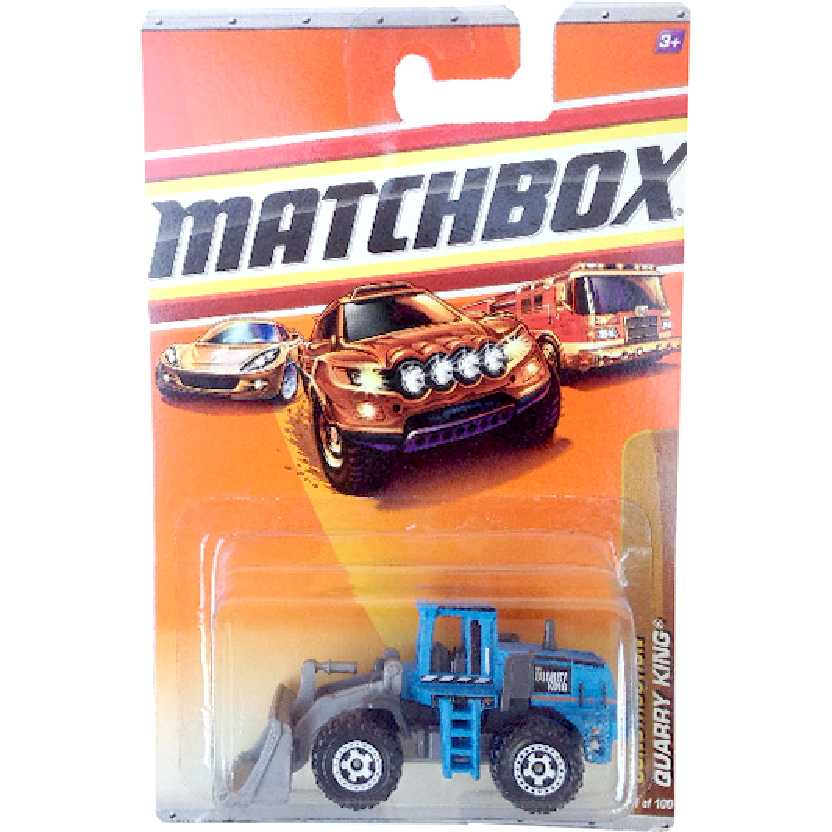 Coleção 2010 Matchbox Construction Quarry King 41/100 R4989 escala 1/64