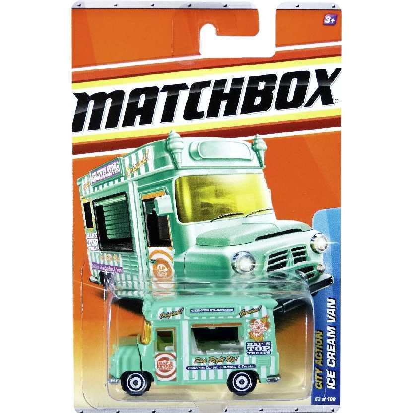 Coleção 2010 Matchbox Ice Cream Van (caminhão de sorvete) 63/100 T8990 escala 1/64