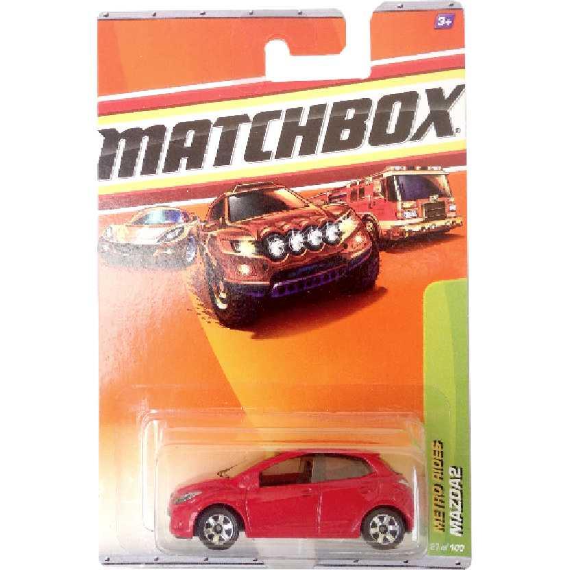 Coleção 2010 Matchbox Mazda 2 vermelho 27/100 R4957 escala 1/64 Raridade