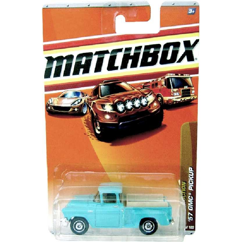 Coleção 2010 Matchbox Pickup GMC Stepside (1957) GM Marta Rocha R0464 escala 1/64
