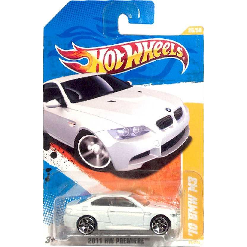 Coleção 2011 Hot Wheels 10 BMW M3 branco T9696 series 26/50 26/244 escala 1/64