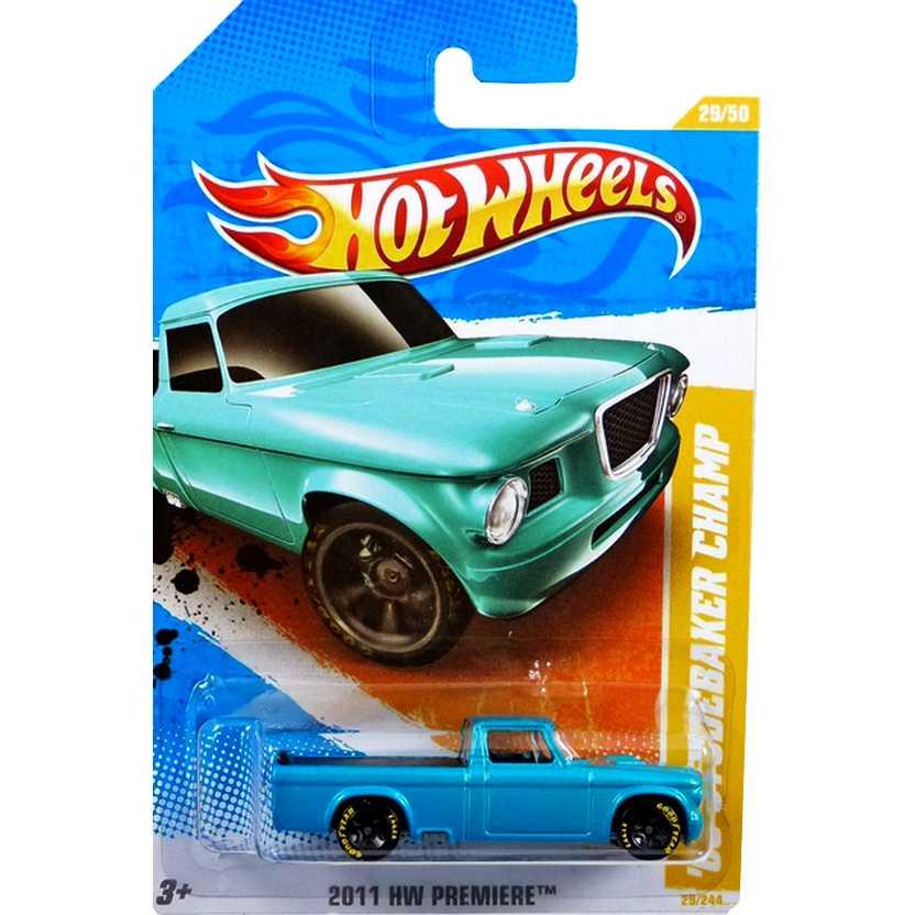Coleção 2011 Hot Wheels 63 Studebaker Champ series 29/50 29/244 V0014 escala 1/64
