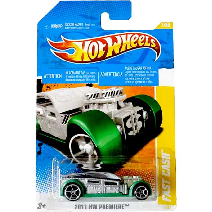 Coleção 2011 Hot Wheels Fast Cash series 7/50 7/244 T9677 escala 1/64