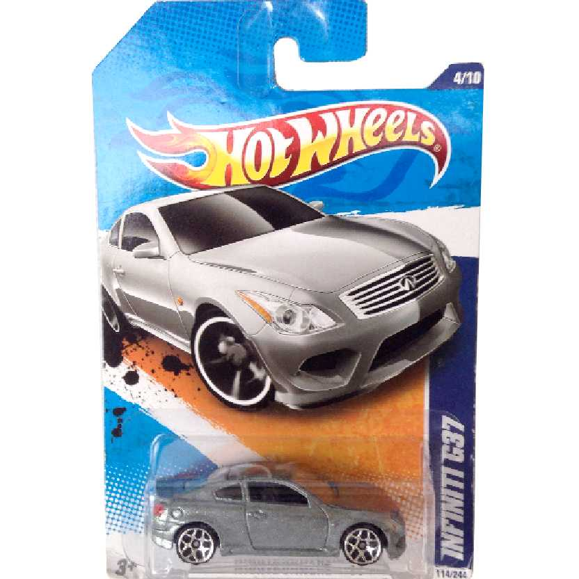 Coleção 2011 Hot Wheels Infiniti G37 series 4/10 114/244 T9821 escala 1/64