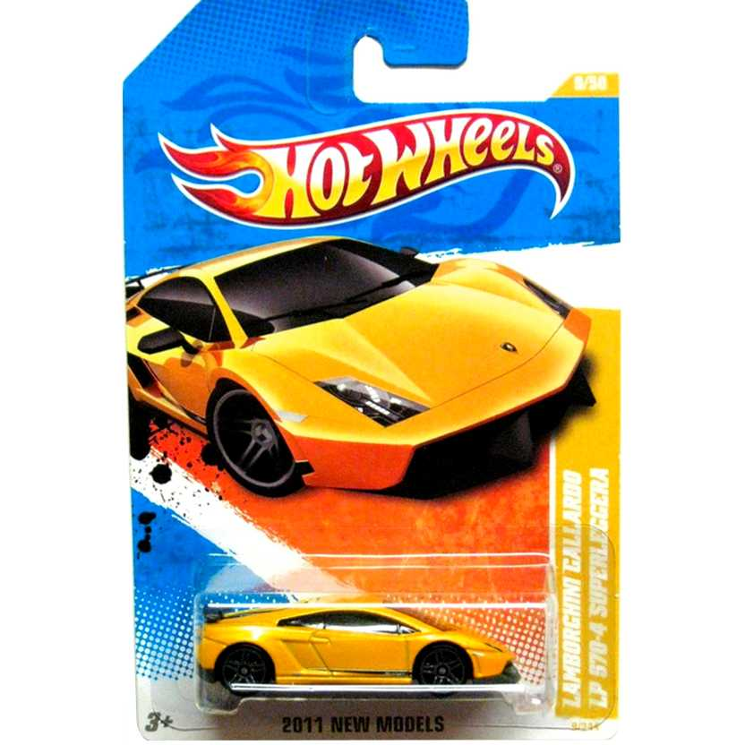 Coleção 2011 Hot Wheels Lamborghini Gallardo LP 570-4 Superleggera 9/50 9/244 T9945