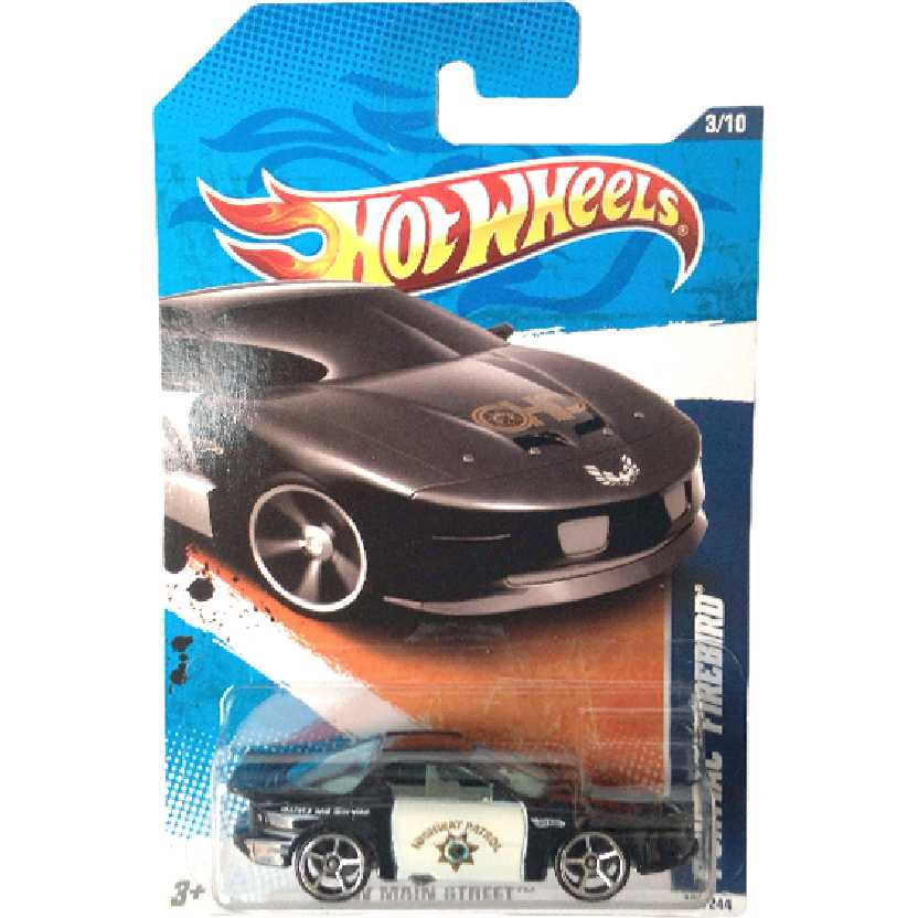 Coleção 2011 Hot Wheels Pontiac Firebird series 3/10 163/244 T9870 escala 1/64