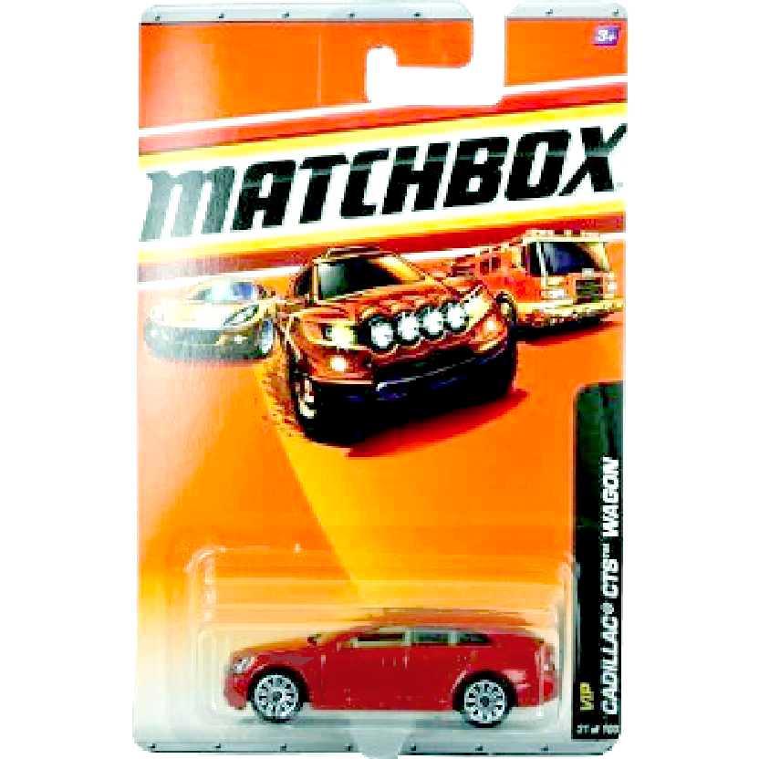 Coleção 2011 Matchbox Cadillac CTS Wagon 31/100 R0455 escala 1/64