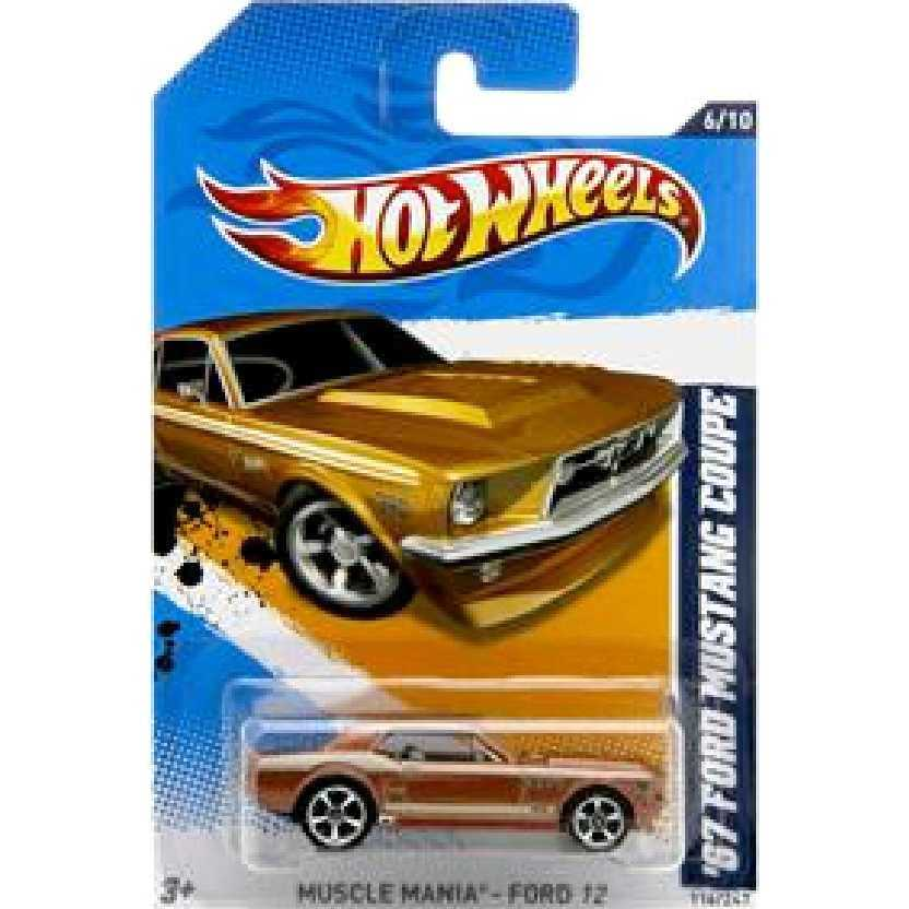 Coleção 2012 Hot Wheels 1967 Ford Mustang coupe V5419 series 6/10 116/247 escala 1/64