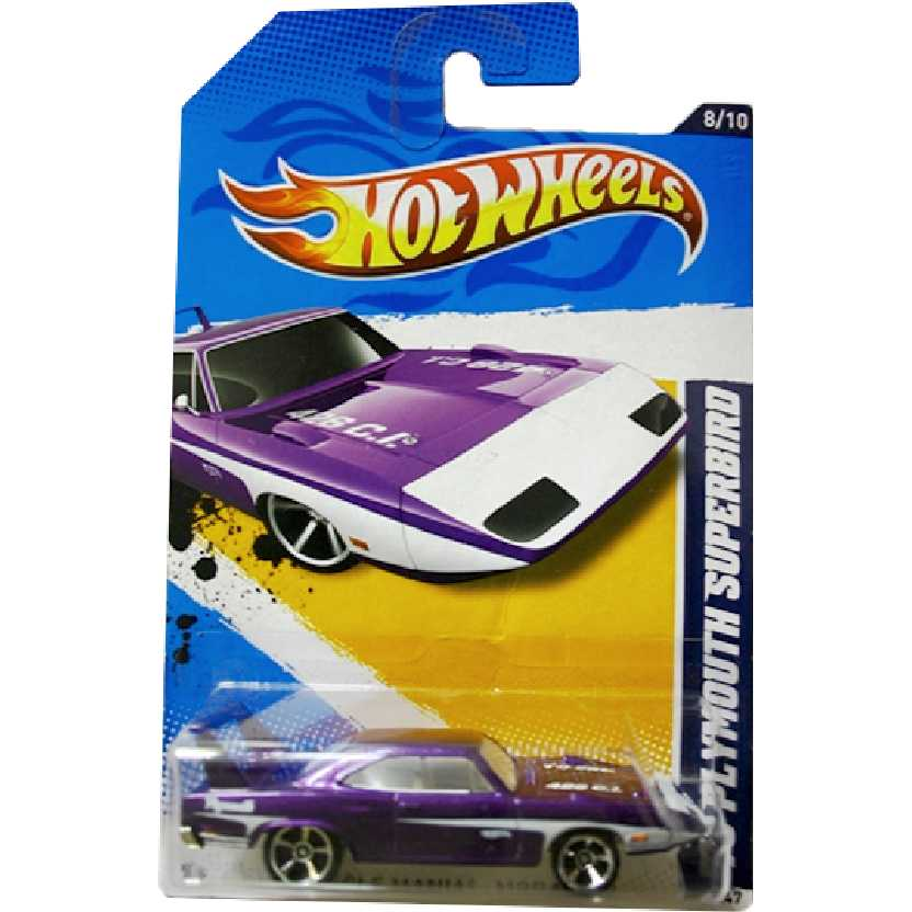 Coleção 2012 Hot Wheels 1970 Plymouth Superbird V5391 series 8/10 88/247 escala 1/64