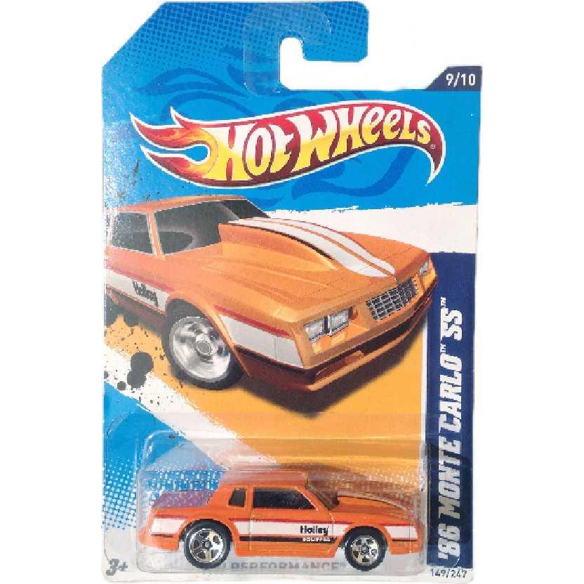 Coleção 2012 Hot Wheels 86 Monte Carlo SS series 9/10 149/247 V5568 escala 1/64