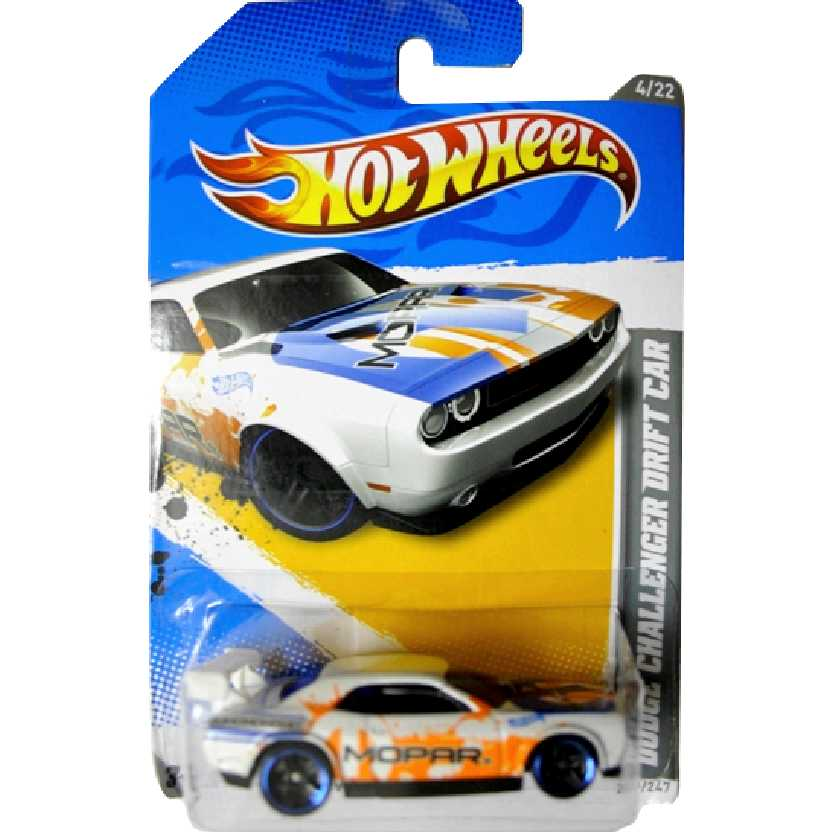 Coleção 2012 Hot Wheels Dodge Challenger Drift Car V5577 series 4/22 229/247 escala 1/64