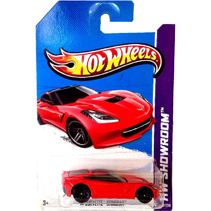 Coleção 2013 Hot Wheels 14 Corvette Stingray vermelho series 205/250 X1620 escala 1/64