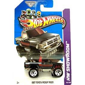 Coleção 2013 Hot Wheels 1987 Toyota Hilux Pickup Truck X1829 série 165/250